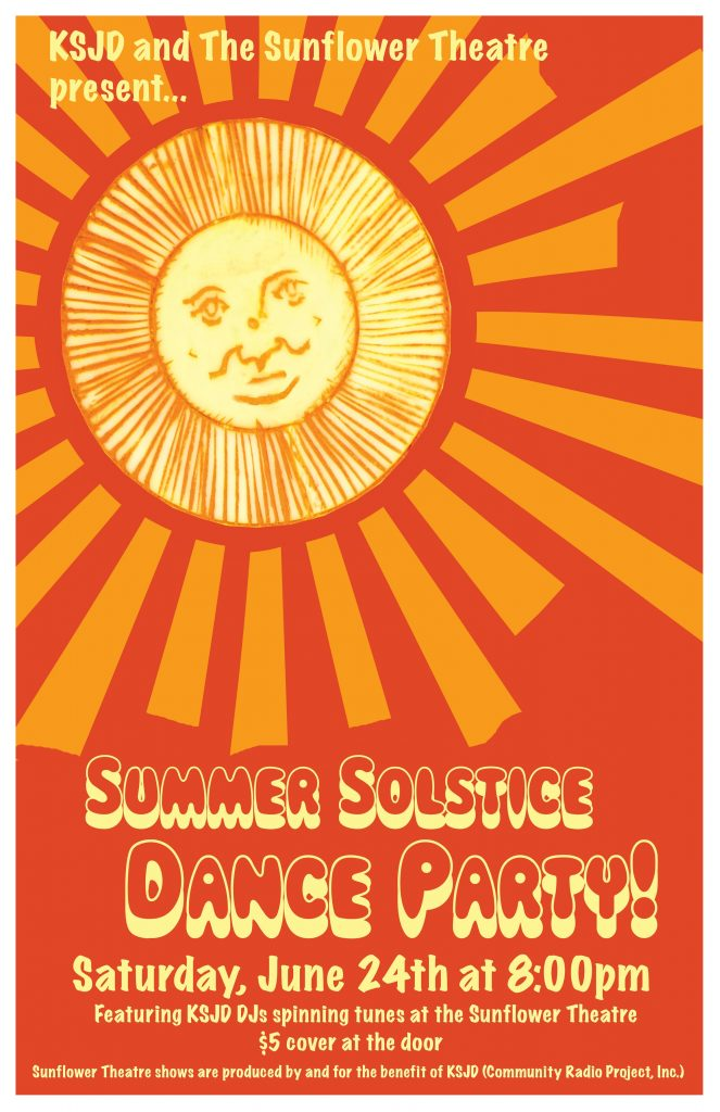 summer solstice dance party   june 24th  8pm  5 cover